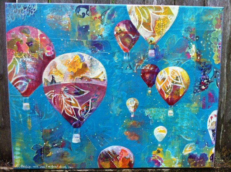 commission based on client's request 2012 acrylic and collage on canvas