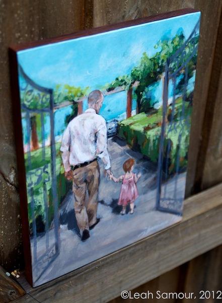 based on client's photos 2012 acrylic on wood
