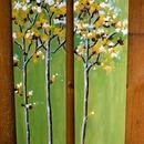 three trees, 2011, acrylic