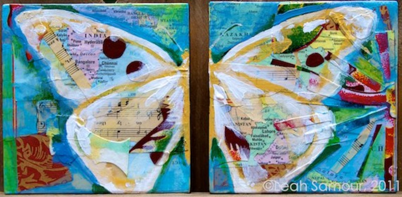 beauty for ashes , 2011, acrylic and collage