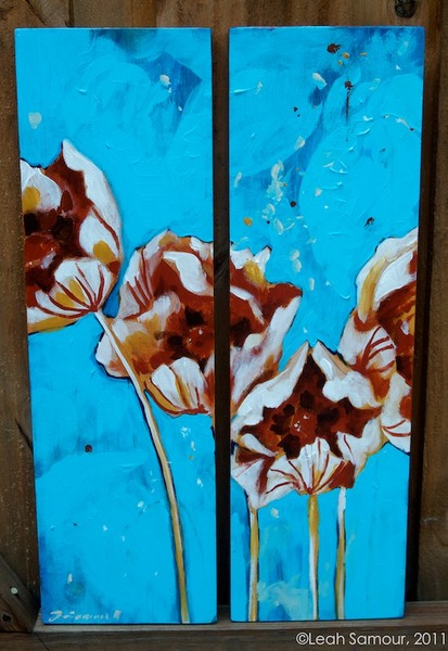 summer's poppies, 2011, acrylic