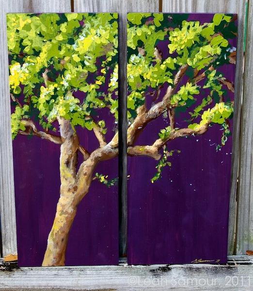festive oak, 2010, acrylic