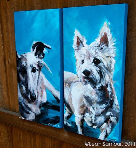 based on client's photos 2012 acrylic on canvas